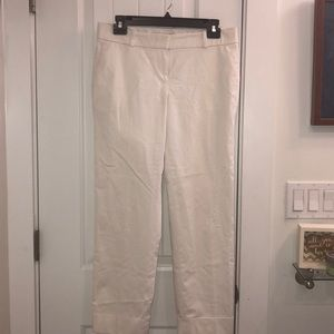 Ann Taylor Cropped White Pants